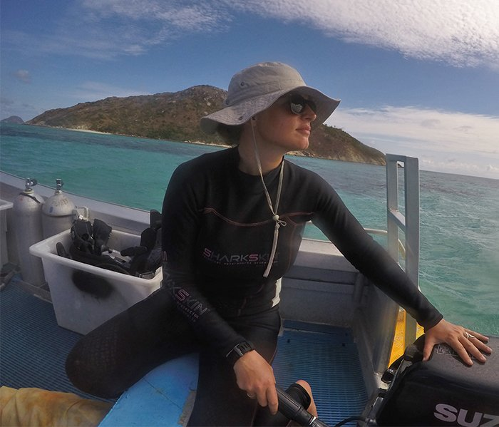 Me (Lauren Nadler) researching at Lizard Island