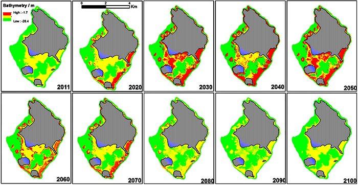 S.M. Hamylton et al (2014) Fig.5.  Satellite image licensed to the University of Wollongong