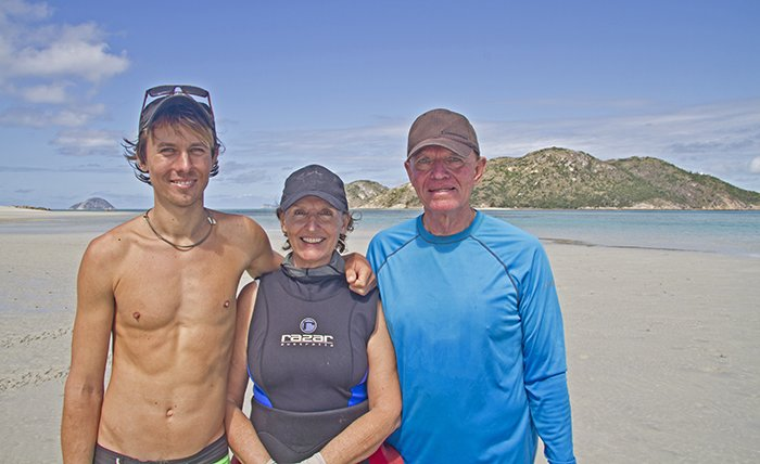 Alex, Anne & Lyle at Lizard Island, July 2015.  Photo by Grace Frank. © Alex Vail