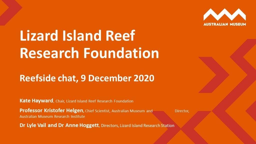 Reefside chat – listen now